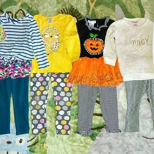 EUC Bundle of 6 Girl's 3T Fall & Winter Outfits